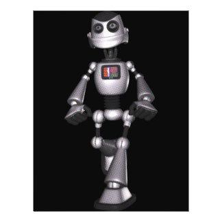 3D Halftone Sci-Fi Robot Guy Flyer