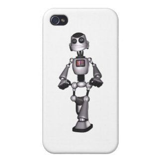 3D Halftone Sci-Fi Robot Guy iPhone 4/4S Cases