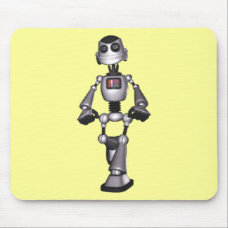 3D Halftone Sci-Fi Robot Guy Mouse Pad