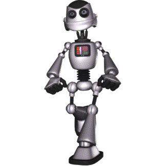3D Halftone Sci-Fi Robot Guy Photo Cutouts