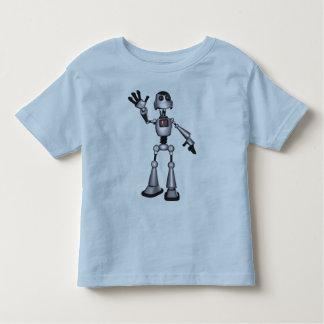 3D Halftone Sci-Fi Robot Guy Waving Toddler T-shirt