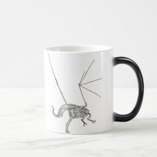 3D Halftone Skeleton Dragon 3 Magic Mug