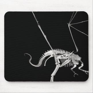 3D Halftone Skeleton Dragon 3 Mouse Pad