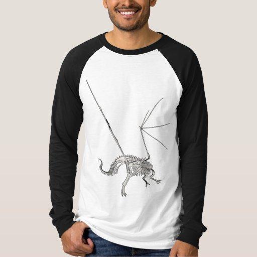 3D Halftone Skeleton Dragon 3 T-Shirt