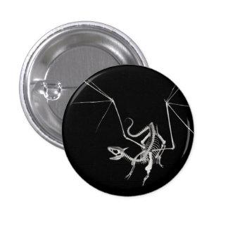 3D Halftone Skeleton Dragon 4 1 Inch Round Button