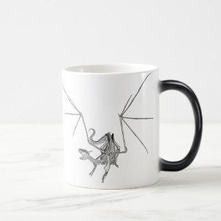 3D Halftone Skeleton Dragon 4 Magic Mug