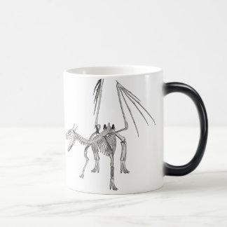 3D Halftone Skeleton Dragon 5 Magic Mug