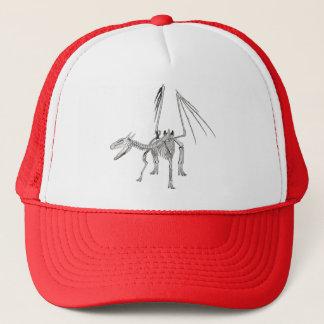 3D Halftone Skeleton Dragon 5 Trucker Hat