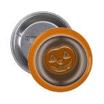 3D Halloween Pumpkin Pinback Buttons