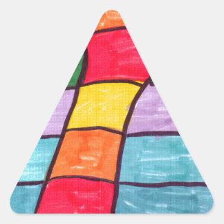 3D Hand Triangle Sticker