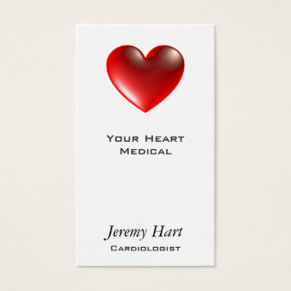 3d Heart / Glass Business Card
