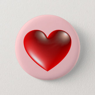 3d Heart / Glass Button