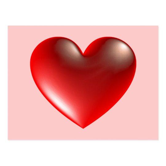 3d Heart / Glass Postcard