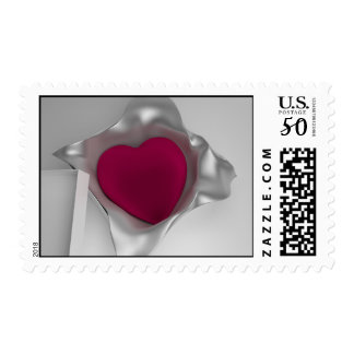 3D Heart In Gift Box Postage