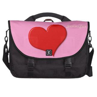 3D Heart Laptop Bag Template