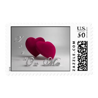 3D Hearts Friendship Postage