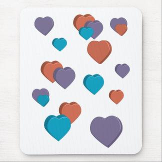 3D Hearts Mousepad