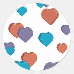 3D Hearts Sticker