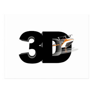 3d Helicopter Postcard