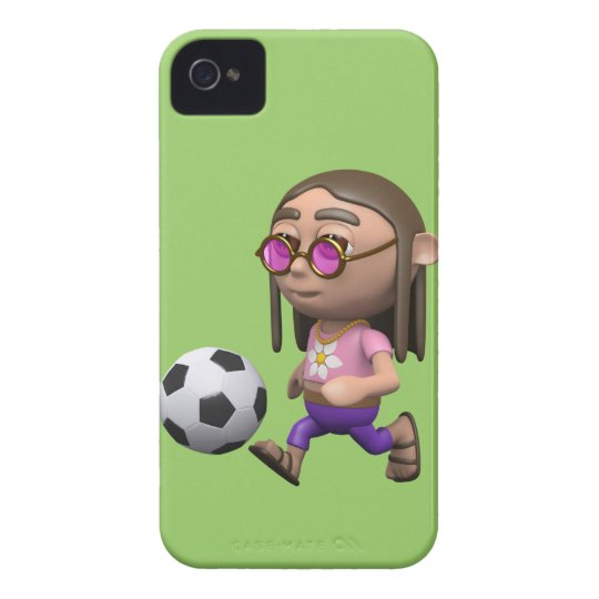 3d Hippy plays Football (Any Color U Like!) iPhone 4 Cover