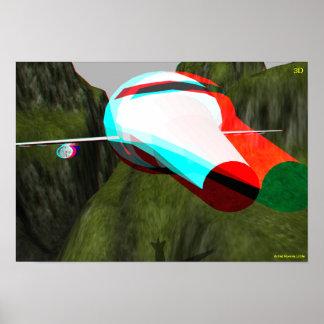 3D Hollywood plano viaja EN 3D Posters