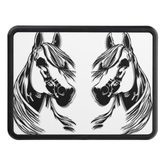 3D Horse Heads Tow Hitch Cover