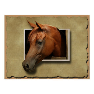 3D Horse Poster