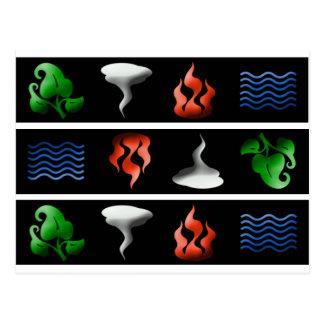 3D Iconic Elements Postcard