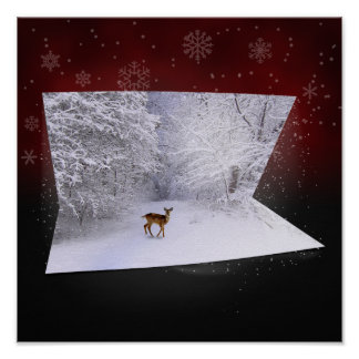 "3D Illusion ""Snowy Dreams"" - Poster"