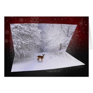 "3D Illusion ""Snowy Dreams"" - Winter Greeting Card"