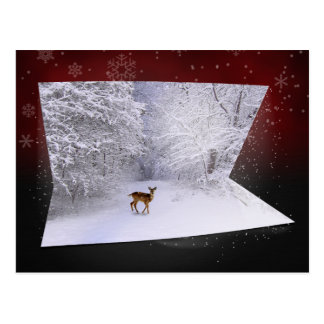 "3D Illusion ""Snowy Dreams"" - Winter Postcard"