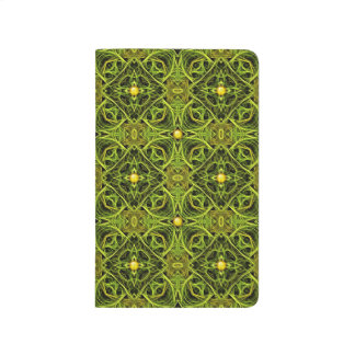 3D Illusional Unique Green Pattern Journal