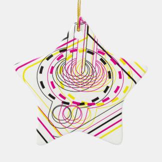 3d Joystick Double-Sided Star Ceramic Christmas Ornament