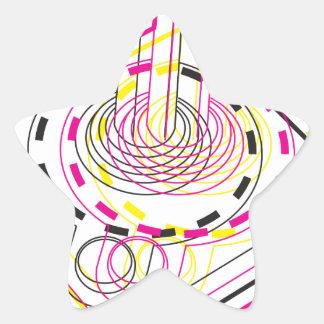 3d Joystick Star Sticker