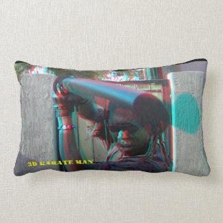 3D Karate Man Pop out Ronnie Little Throw Pillows