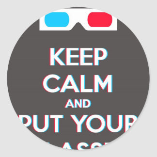 3D Keep Calm And Put You Glasses On Stickers