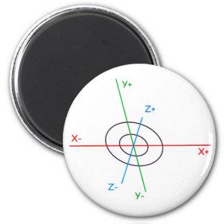 3D-Koordinatenkreuz Magnet