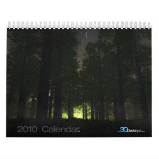 3D Landscapes - 2010 Wall Calendar