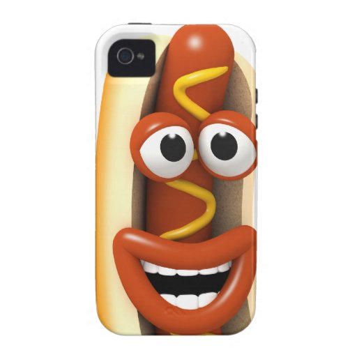 3d Laughing Hot Dog iPhone 4 Case