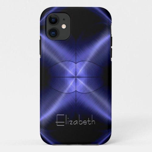 3D Light | Cool Shiny Radial Steel Metal Phone Case