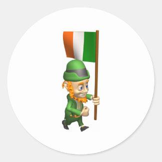 3D lindo Irlanda Pegatinas