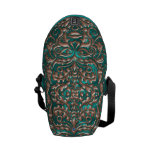 3D Liquid Copper GreenMan Damask on Satin Lush Courier Bags
