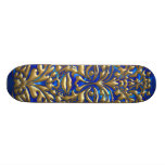 3D Liquid Gold GreenMan Damask on Satin Lush Custom Skateboard