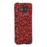 3D Look Red Hearts Valentine Custom Name Cover Galaxy S2 Case