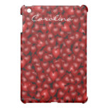 3D Look Red Hearts Valentine Custom Name Cover iPad Mini Cover