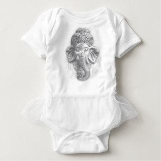 3d Lord Ganesha - Om Baby Bodysuit