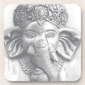 3d Lord Ganesha - Om Beverage Coaster