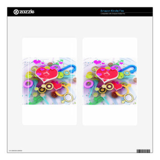 3d Love Heart Skins For Kindle Fire