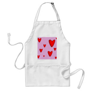 3D Love Hearts Valentines Adult Apron