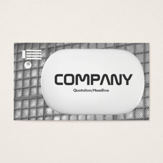 3d Lozenge - Glass Wall 02 - Black and White Business Card